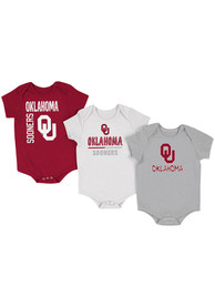 Oklahoma Sooners Baby Colosseum Ahhhhh One Piece - Crimson