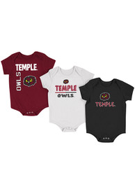 Temple Owls Baby Colosseum Ahhhhh One Piece - Red
