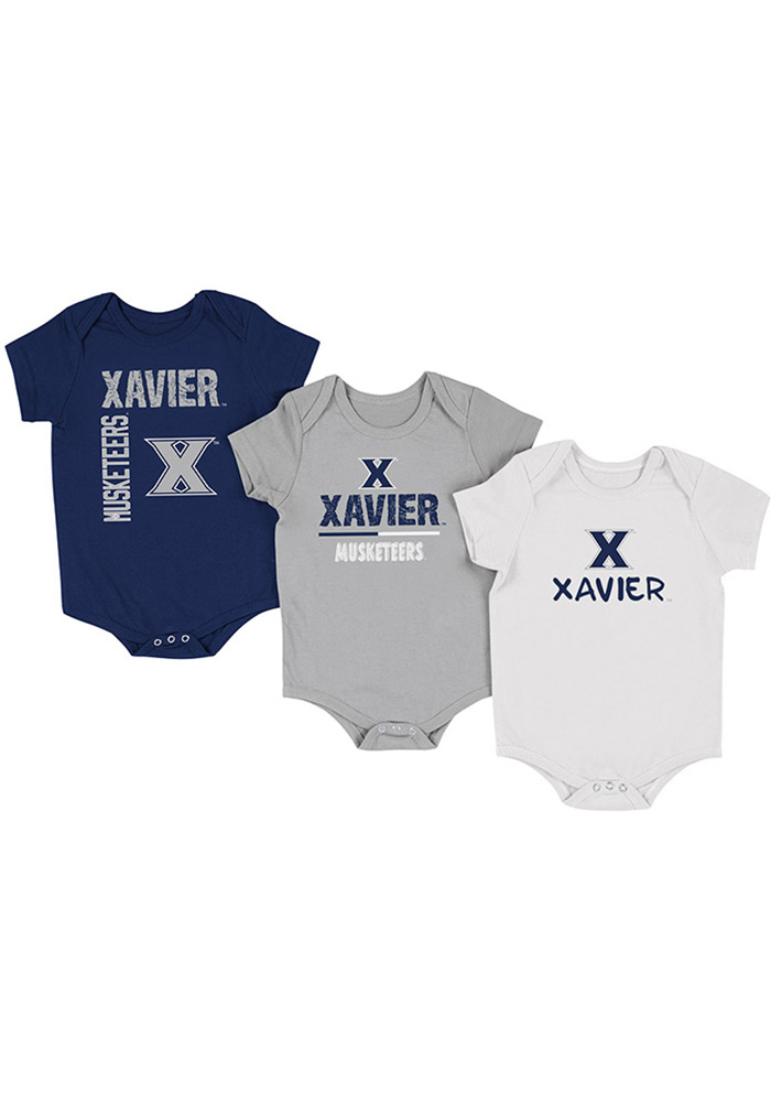 Colosseum Xavier Musketeers Baby Navy Blue Ahhhhh One Piece - Image 1