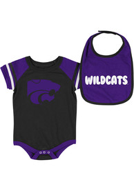 K-State Wildcats Baby Colosseum Roll-Out One Piece with Bib - Purple