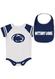 Penn State Nittany Lions Baby Colosseum Roll-Out One Piece with Bib - Navy Blue