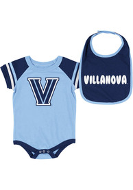 Villanova Wildcats Baby Colosseum Roll-Out One Piece with Bib - Navy Blue