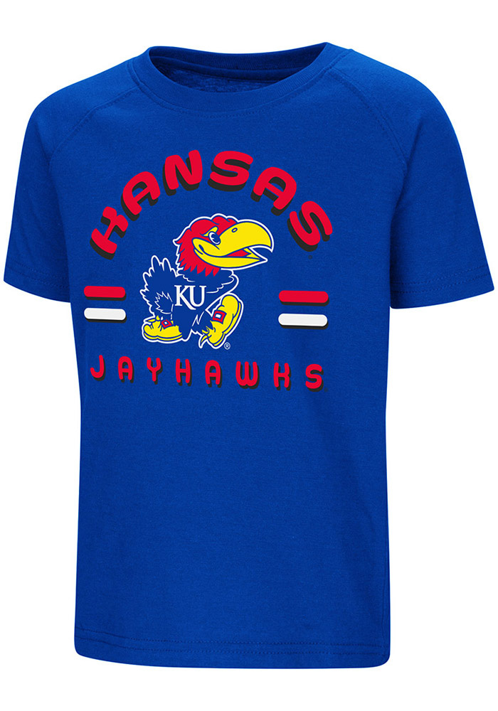 Colosseum Kansas Jayhawks Toddler Blue Cowboys Short Sleeve T-Shirt - Image 1
