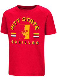 Colosseum Pitt State Gorillas Toddler Red Cowboys T-Shirt