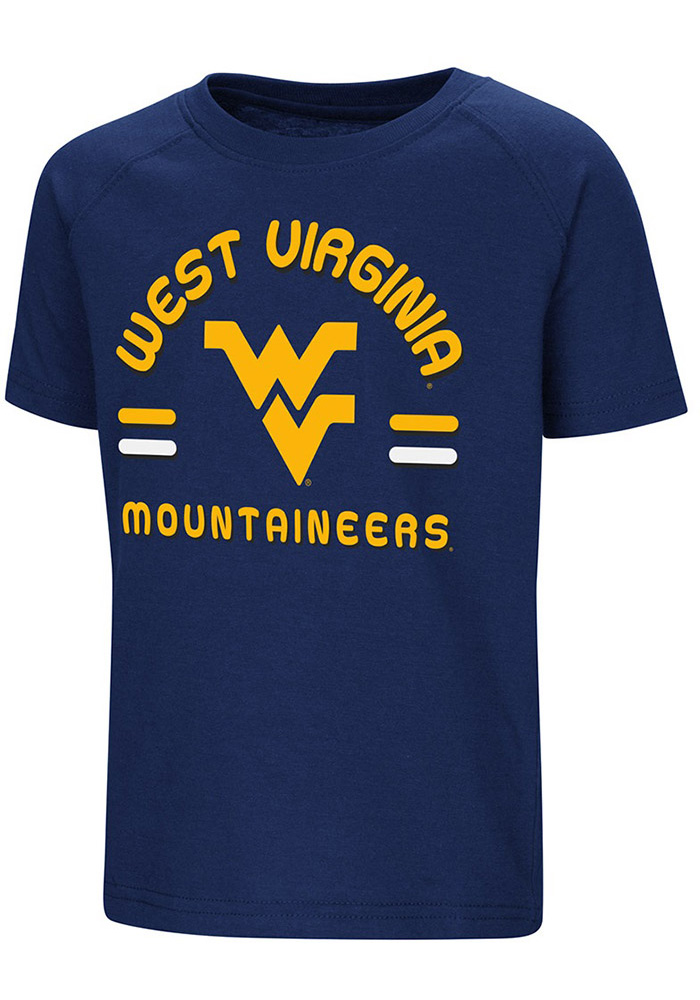 Colosseum West Virginia Mountaineers Toddler Blue Cowboys Short Sleeve T-Shirt - Image 1