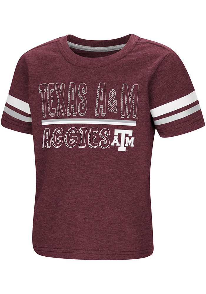 Colosseum Texas A&M Aggies Toddler Maroon You Rang Short Sleeve T-Shirt - Image 1