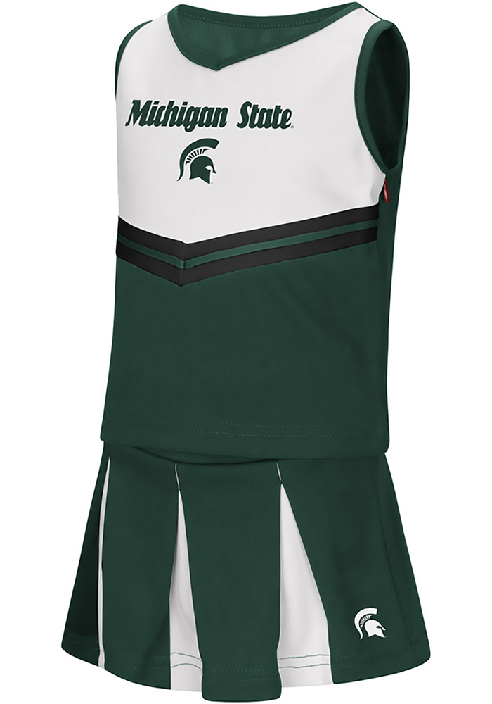 Michigan State Spartans Toddler Girls Colosseum Pom Pom Cheer - Green