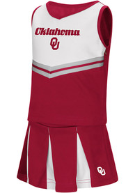 Oklahoma Sooners Toddler Girls Colosseum Pom Pom Cheer - Crimson