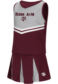 Texas A&M Aggies Toddler Girls Colosseum Pom Pom Cheer - Maroon