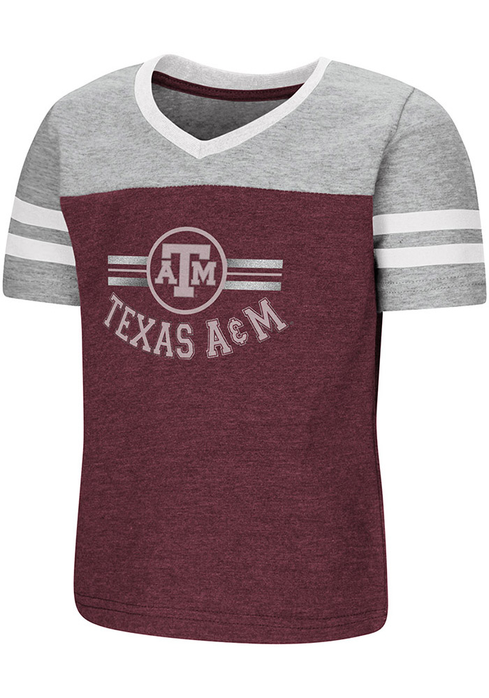 Colosseum Texas A&M Aggies Toddler Girls Maroon Pee Wee Short Sleeve T-Shirt - Image 1
