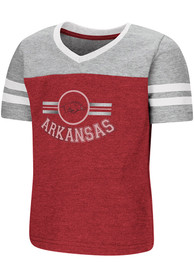 Colosseum Arkansas Razorbacks Toddler Girls Cardinal Pee Wee T-Shirt