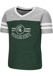 Colosseum Michigan State Spartans Toddler Girls Green Pee Wee Short Sleeve T-Shirt