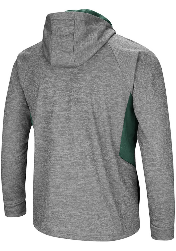 Colosseum Michigan State Spartans Mens Grey All Them Teeth Long Sleeve Zip - Image 2