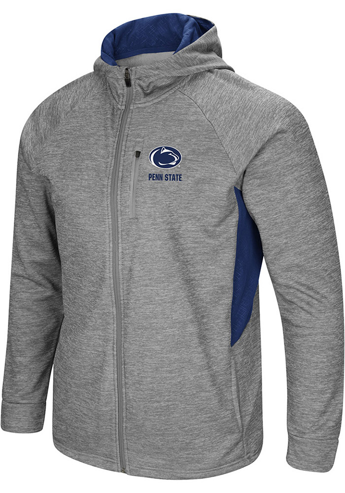 Colosseum Penn State Nittany Lions Mens Grey All Them Teeth Long Sleeve Zip - Image 1