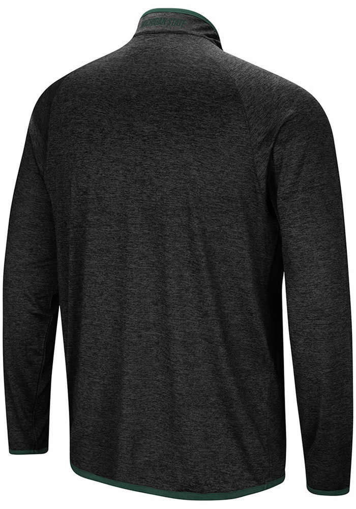 Colosseum Michigan State Spartans Mens Charcoal Amnesia Long Sleeve 1/4 Zip Pullover - Image 2