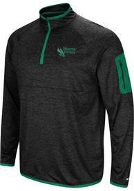 North Texas Mean Green Colosseum Amnesia 1/4 Zip Pullover - Charcoal