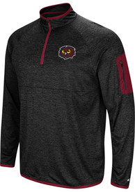 Temple Owls Colosseum Amnesia 1/4 Zip Pullover - Charcoal