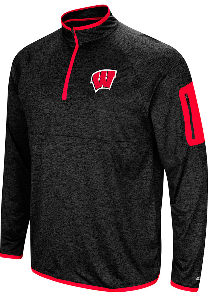 Wisconsin Badgers Colosseum Amnesia 1/4 Zip Pullover - Charcoal