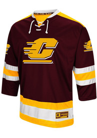 Central Michigan Chippewas Colosseum Athletic Machine Hockey Jersey - Maroon