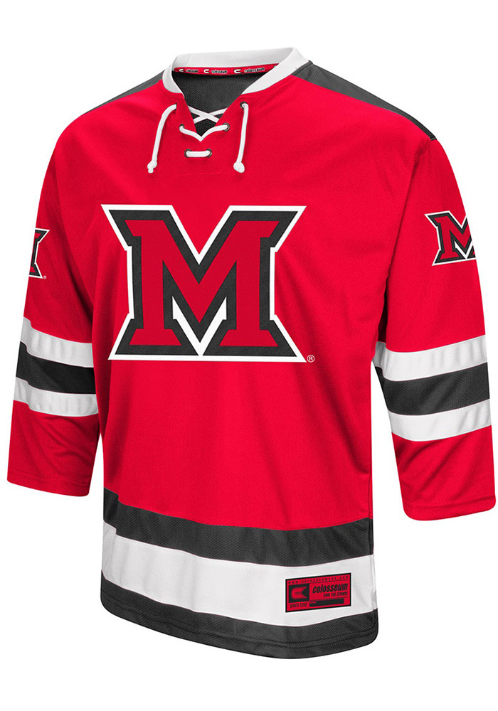 6c37a64d8 Miami Redhawks Red Athletic Machine Jersey