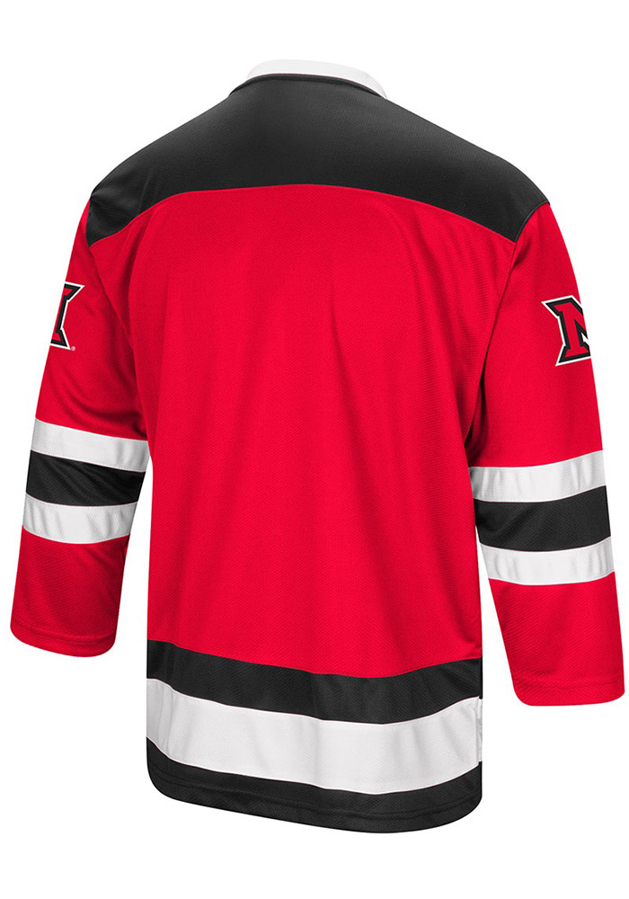 Colosseum Miami Redhawks Mens Red Athletic Machine Hockey Jersey - Image 2