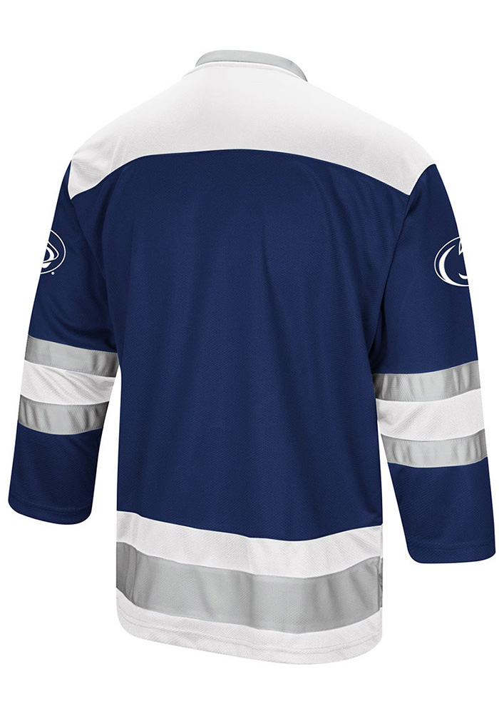 best sneakers 804fb 0f8c3 Colosseum Penn State Nittany Lions Mens Navy Blue Athletic Machine Hockey  Jersey