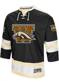 Western Michigan Broncos Colosseum Athletic Machine Hockey Jersey - Black