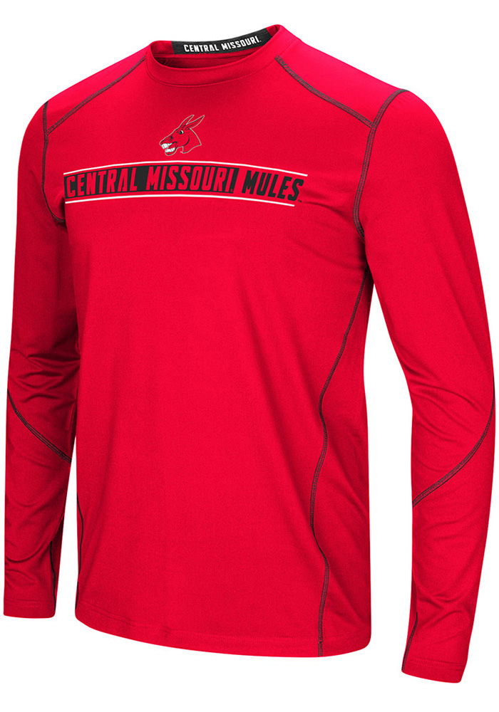 Colosseum Central Missouri Mules Red Bayous Long Sleeve T-Shirt - Image 1