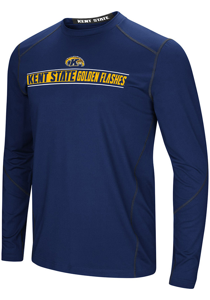 Colosseum Kent State Golden Flashes Navy Blue Bayous Long Sleeve T-Shirt - Image 1