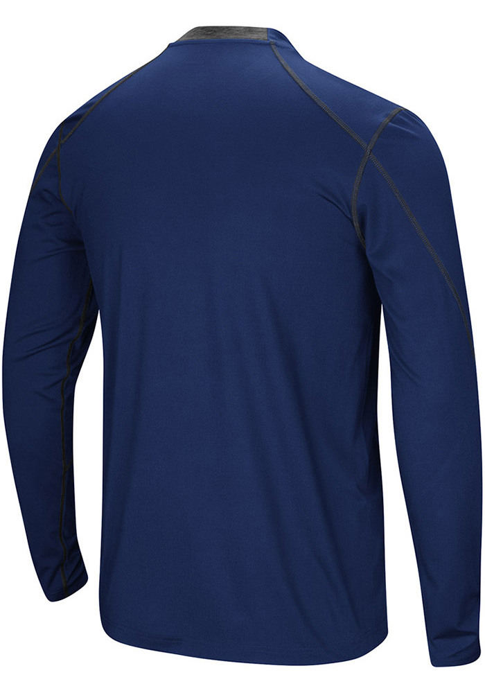 Colosseum Kent State Golden Flashes Navy Blue Bayous Long Sleeve T-Shirt - Image 2