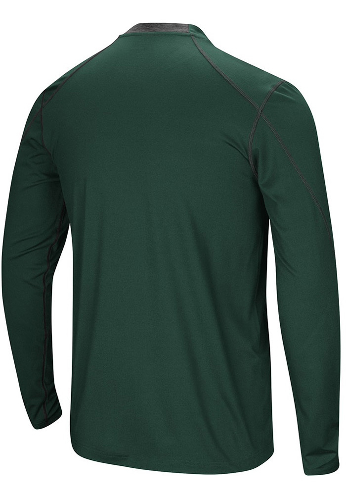 Colosseum Michigan State Spartans Green Bayous Long Sleeve T-Shirt - Image 2