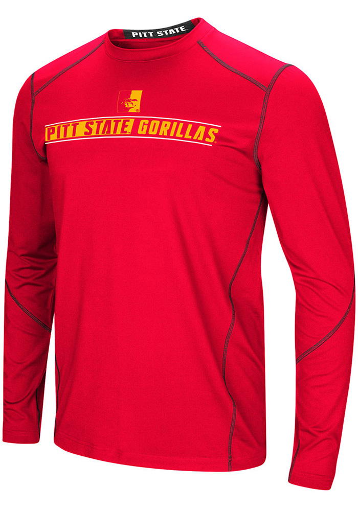 Colosseum Pitt State Gorillas Red Bayous Long Sleeve T-Shirt - Image 1