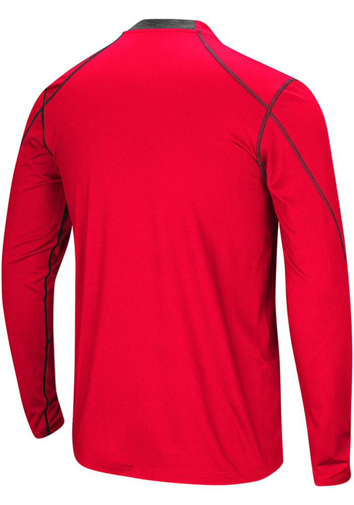 Colosseum SMU Mustangs Red Bayous Long Sleeve T-Shirt - Image 2