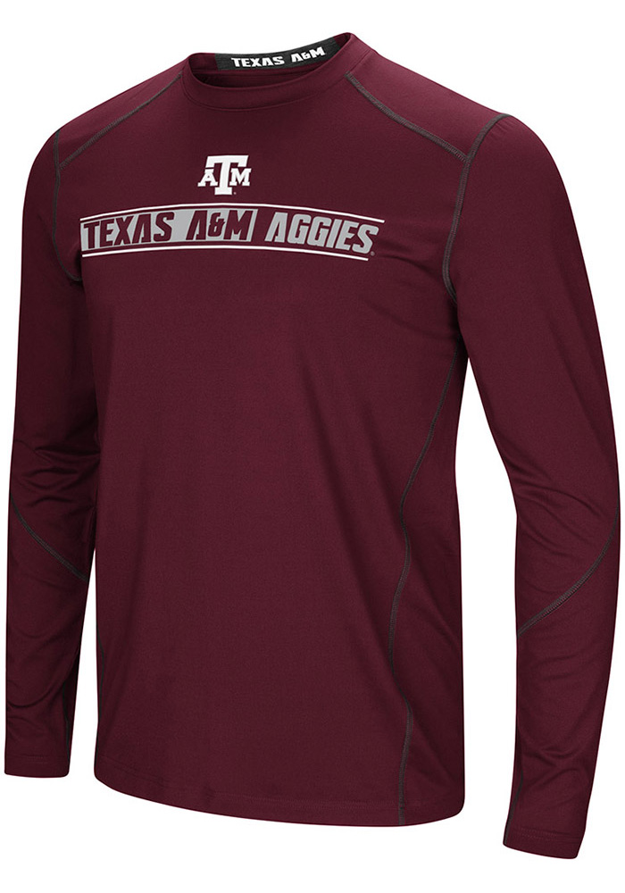 Colosseum Texas A&M Aggies Maroon Bayous Long Sleeve T-Shirt - Image 1