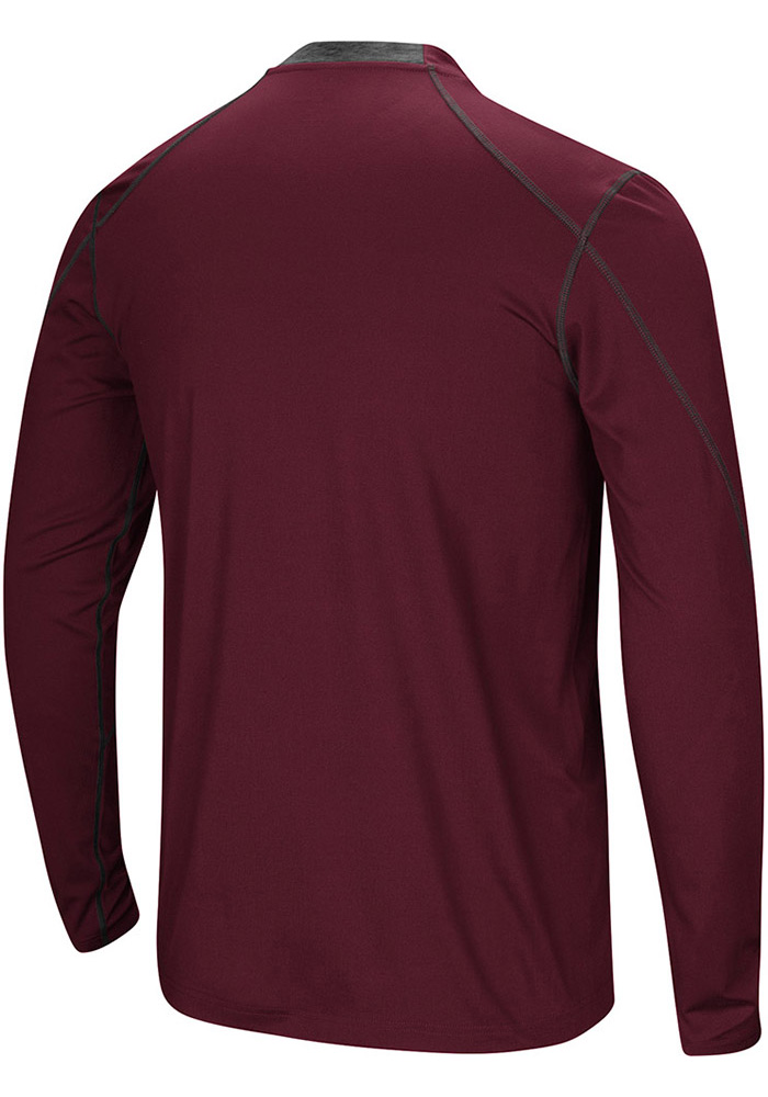 Colosseum Texas A&M Aggies Maroon Bayous Long Sleeve T-Shirt - Image 2