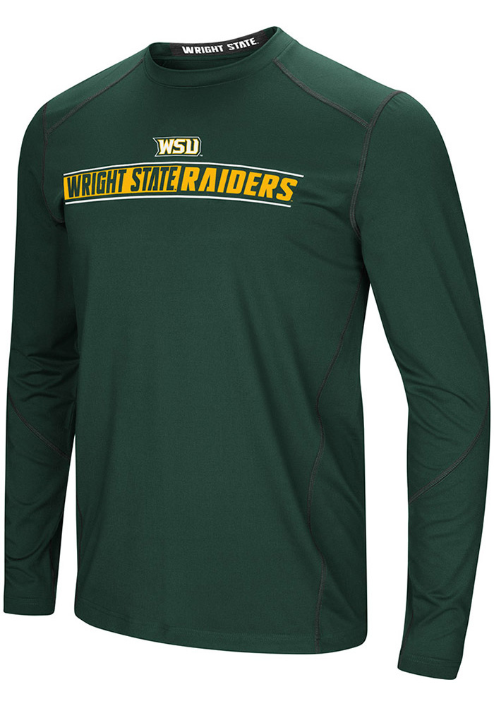 Colosseum Wright State Raiders Green Bayous Long Sleeve T-Shirt - Image 1
