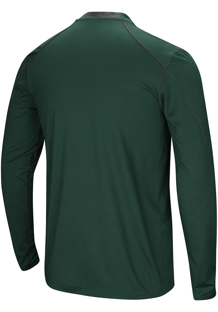 Colosseum Wright State Raiders Green Bayous Long Sleeve T-Shirt - Image 2