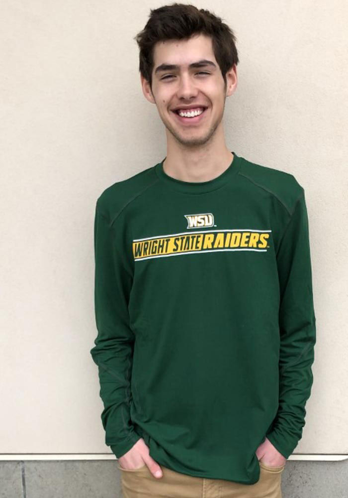 Colosseum Wright State Raiders Green Bayous Long Sleeve T-Shirt - Image 3