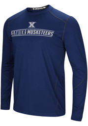 Colosseum Xavier Musketeers Navy Blue Bayous Long Sleeve T-Shirt