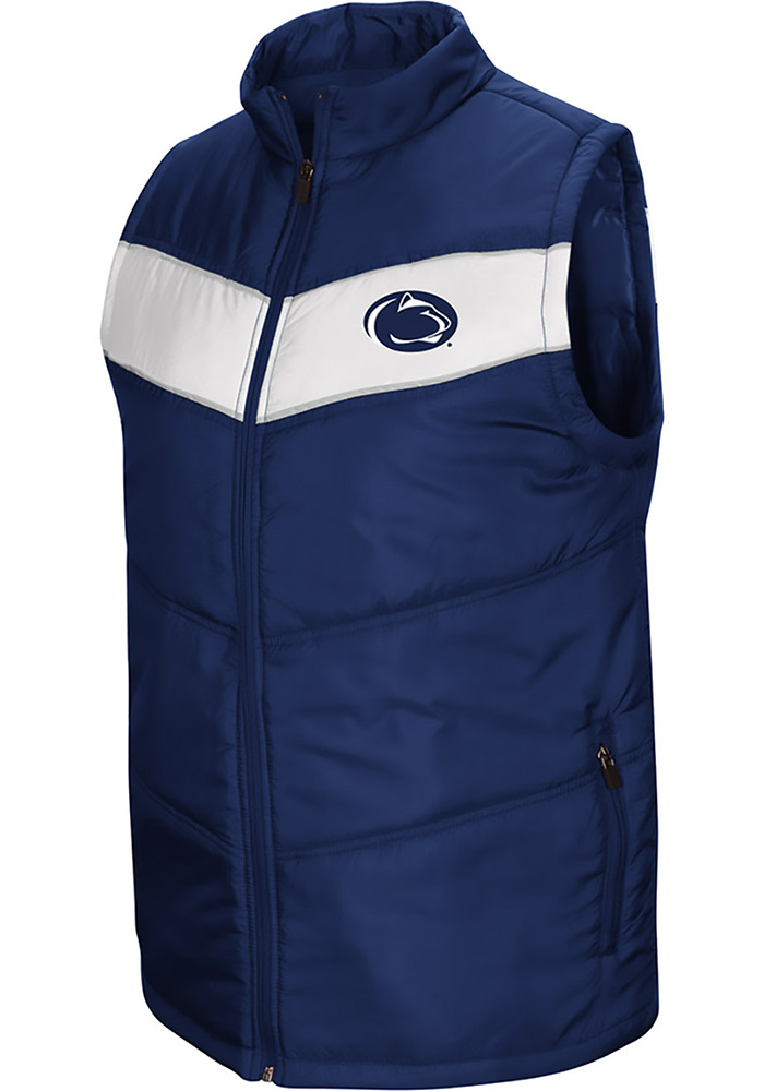 Colosseum Penn State Nittany Lions Mens Navy Blue Beaulieu Sleeveless Jacket - Image 1