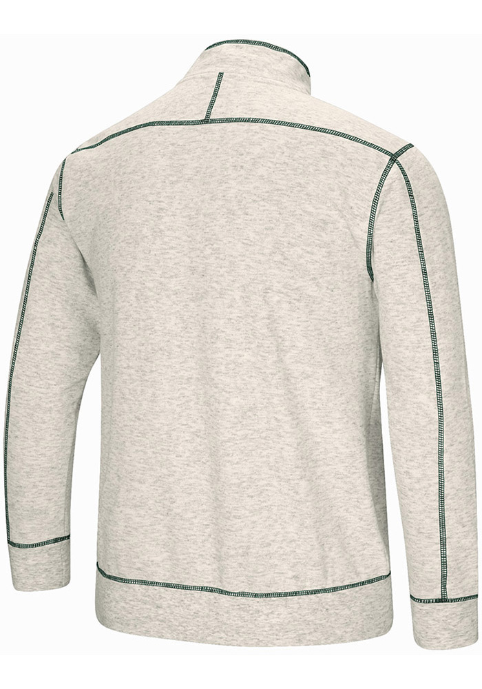 Colosseum Michigan State Spartans Mens Grey Bourbon Bowl Long Sleeve 1/4 Zip Pullover - Image 2
