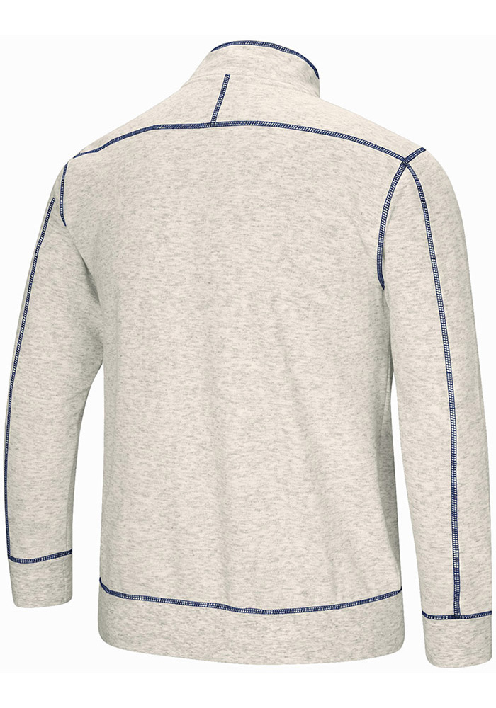 Colosseum Penn State Nittany Lions Mens Grey Bourbon Bowl Long Sleeve 1/4 Zip Pullover - Image 2