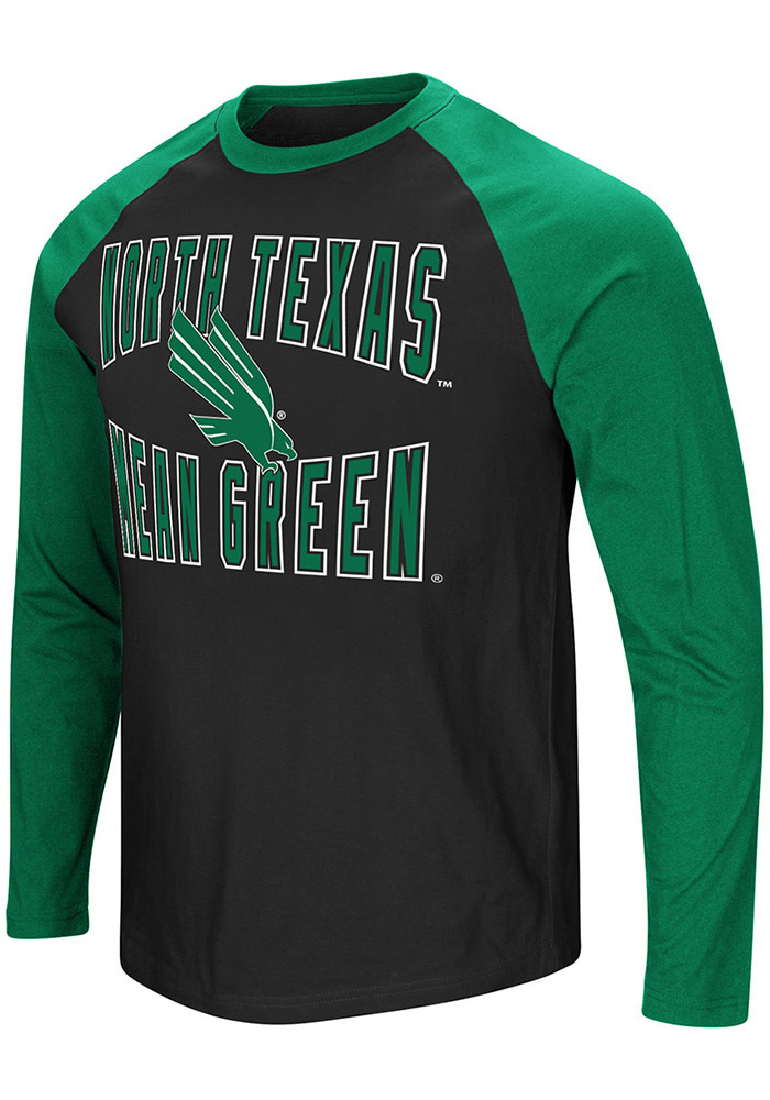 Colosseum North Texas Mean Green Black Cajun Long Sleeve T Shirt - Image 1