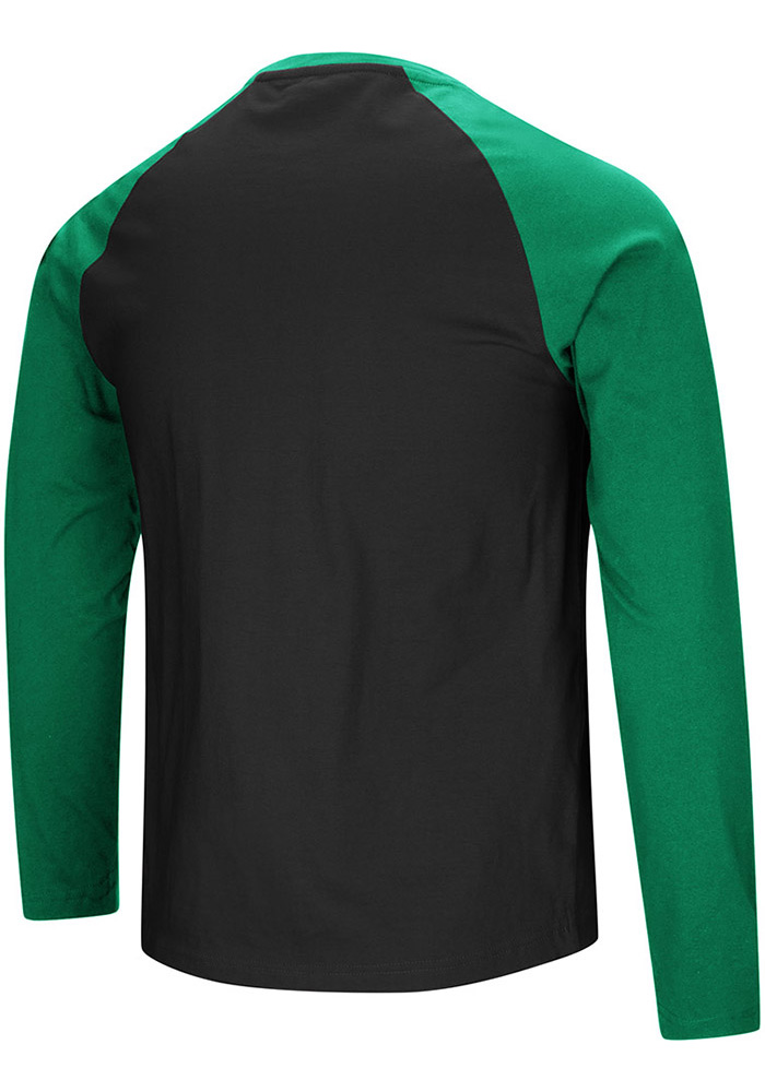 Colosseum North Texas Mean Green Black Cajun Long Sleeve T Shirt - Image 2