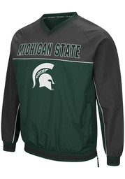 Colosseum Michigan State Spartans Mens Green Coach Klein Pullover Jackets