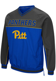Pitt Panthers Colosseum Coach Klein Pullover Jackets - Blue
