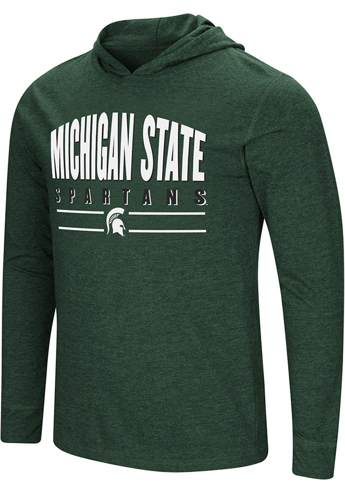 Colosseum Michigan State Spartans Green Do It For You Long Sleeve Fashion T Shirt - Image 1
