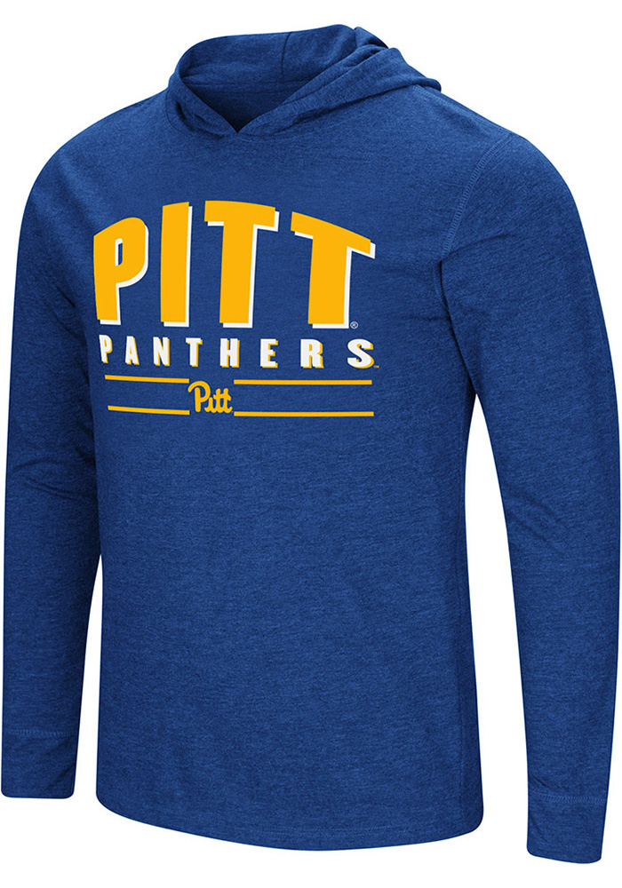 Colosseum Pitt Panthers Blue Do It For You Long Sleeve Fashion T Shirt - Image 1