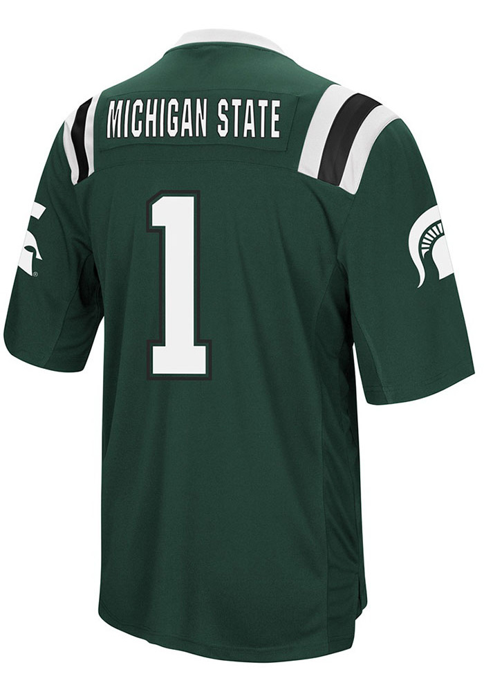 Colosseum Michigan State Spartans Mens Green Foos-Ball Football Jersey - Image 2