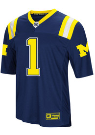 Michigan Wolverines Colosseum Foos-Ball Football Jersey - Navy Blue